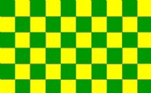 CHECKERED YELLOW & GREEN - 5 X 3 FLAG